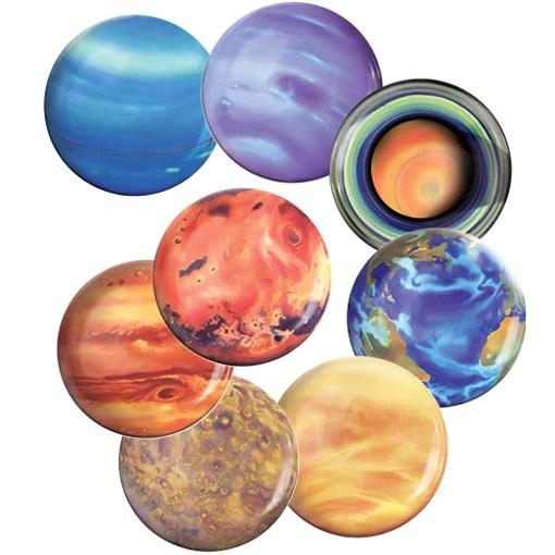 The Solar System - Melamine Planet Plate Set - Present ...