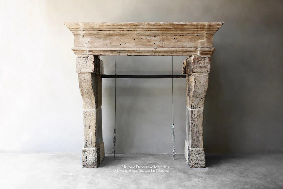 la maison francaise antique french stone fireplace mantel mantel pave 121 sold