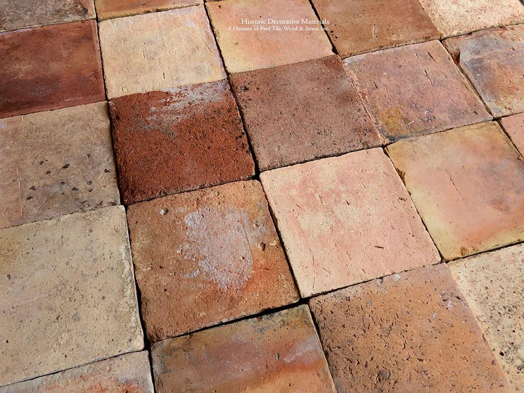 new in stock lot spanish reclaimed square terra cotta tile item pa128