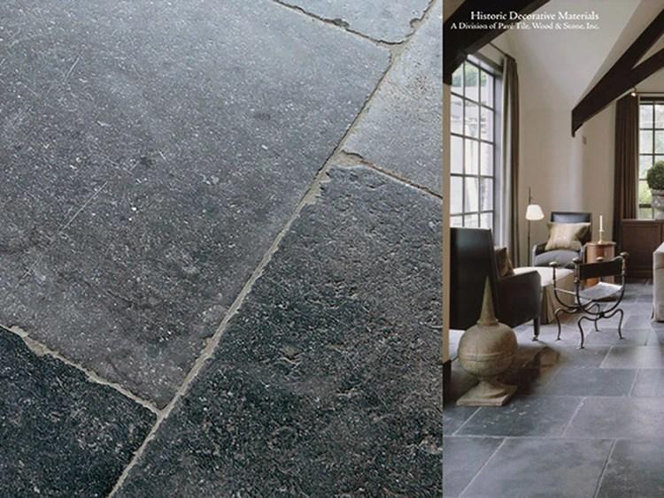 17th century antwerp hand finished vintage antiqued belgian bluestone flooring