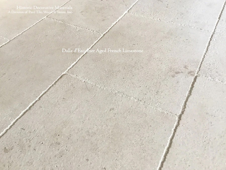 dalle d escoffier aged french limestone flooring and wall cladding