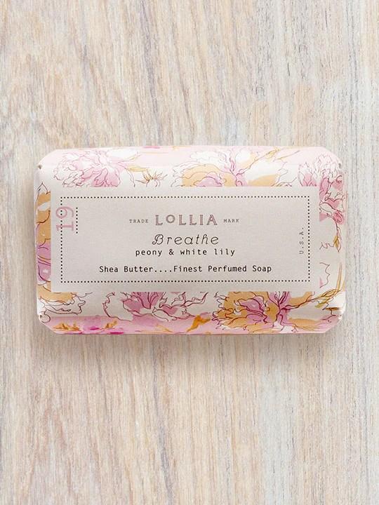 Breathe Perfumed Shea Butter Bar Soap Lollia
