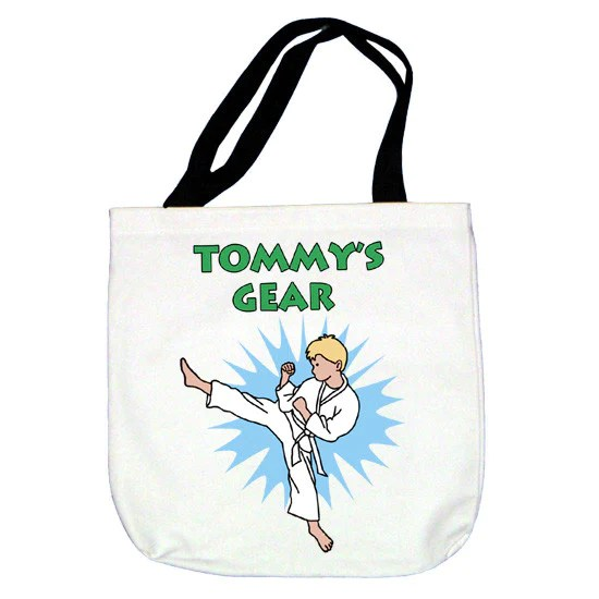 Karate Or Martial Arts Gift Boys Tote Bag Kick Design