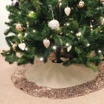 Hessian Christmas Tree Skirt With Rose Gold Sequin Trim The Sweet Hostess Ltd