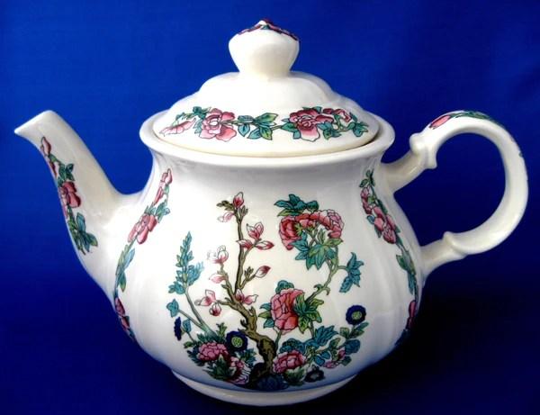 Teapot Sadler Indian Tree Indian Peony Large Vintage