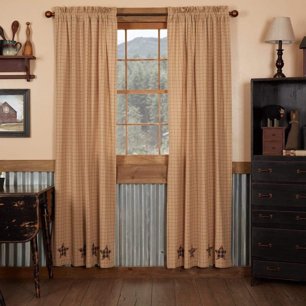curtain panels 84 retro barn country