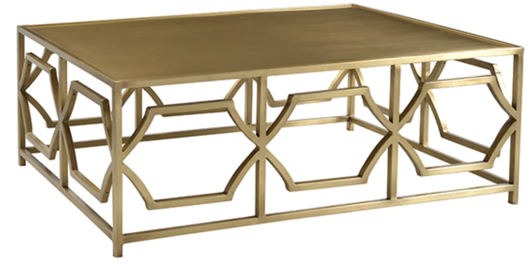 brushed gold deco coffee table
