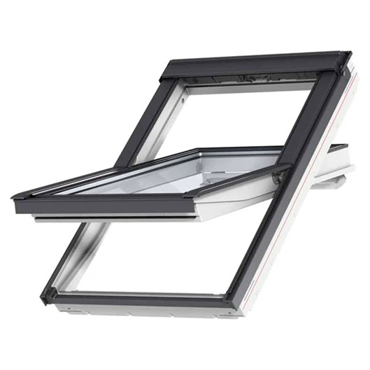 velux ggl mk08 2070 white painted centre pivot window 78 x 140 cm