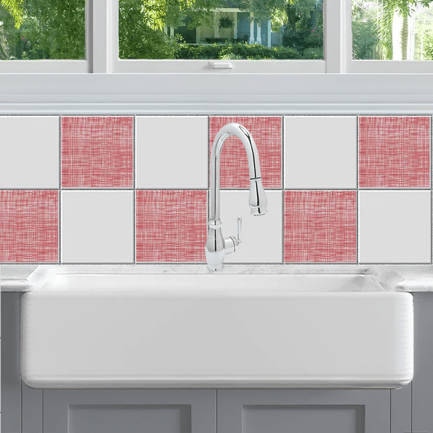 all over linen tile decals