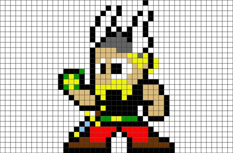 Asterix Pixel Art BRIK