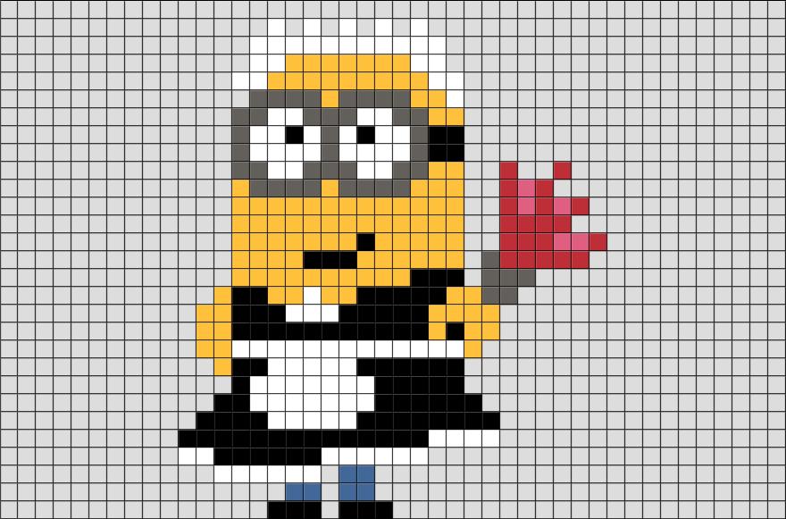 Minion Phil Pixel Art Brik