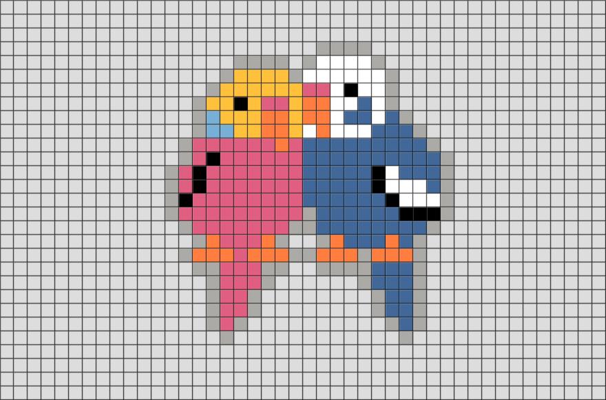 Minecraft Terraria Pixel Art Grid