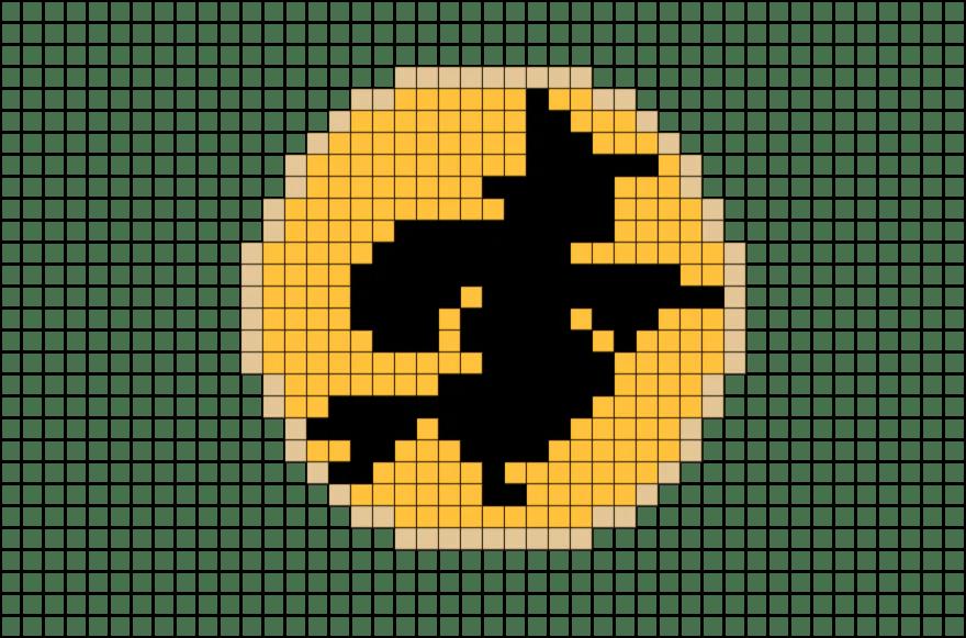 Witch Pixel Art BRIK