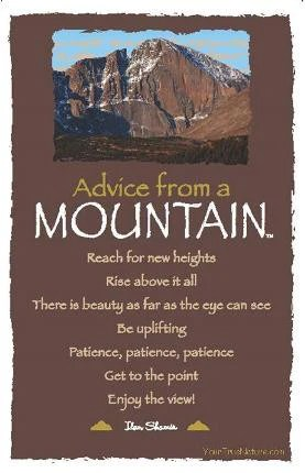 Advice From A Mountain Rocky Mountain National Park