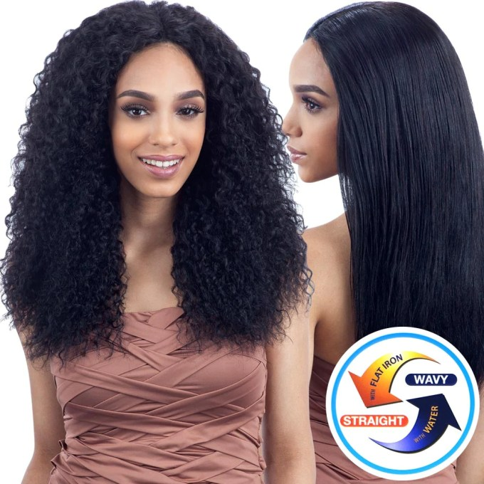 naked nature unprocessed wet & wavy hair - beach curl 7pcs