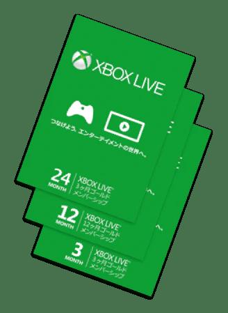 Xbox Live Gold Solaris Japan Cards