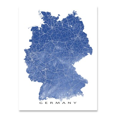 Germany Map Print  Colors     Maps As Art