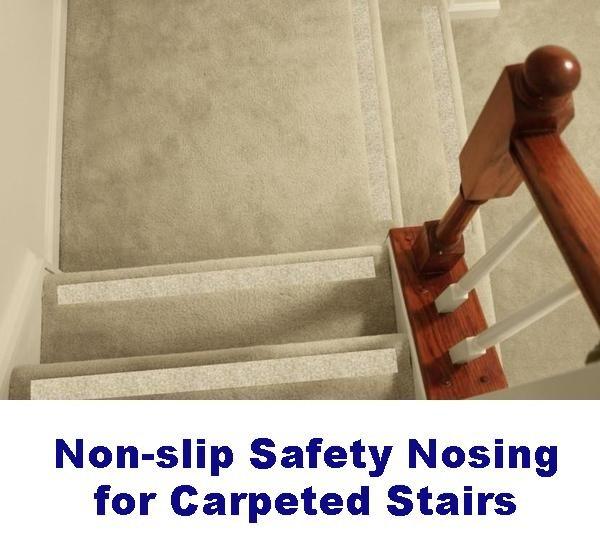 Non Slip Carpet Safety Strips For Carpeted Stairs – No Slip Str*P | Carpet Strips For Steps | Border | Carpeted | Adhesive | Builder Grade | Victorian