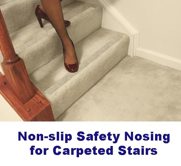 Non Slip Carpet Safety Strips For Carpeted Stairs – No Slip Str*P   Stair Treads For Carpeted Steps   Carpet Protectors   Skid Resistant   Bullnose Carpet   Anti Slip Stair   Wood