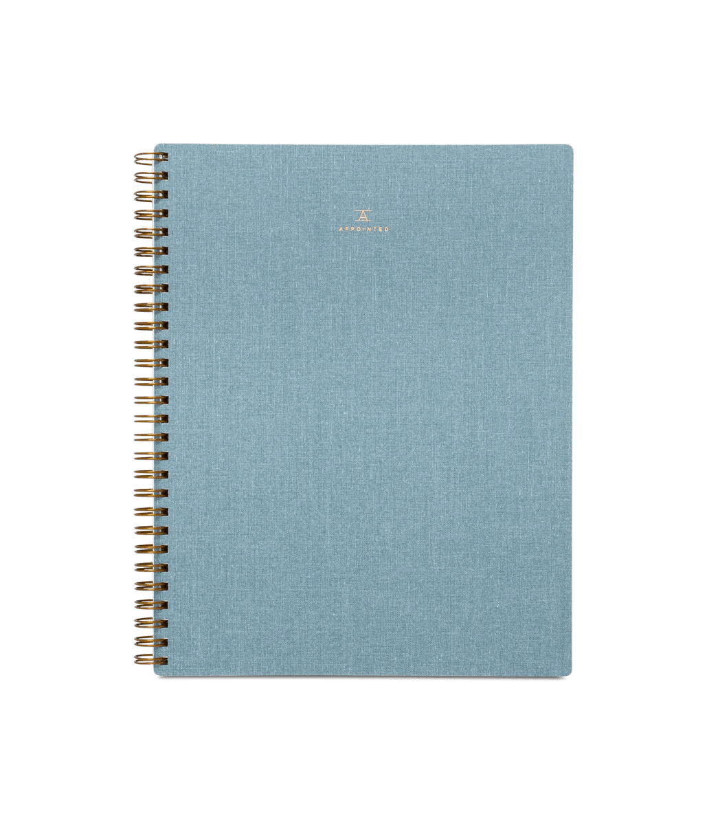 Notebook Chambray Blue Appointed
