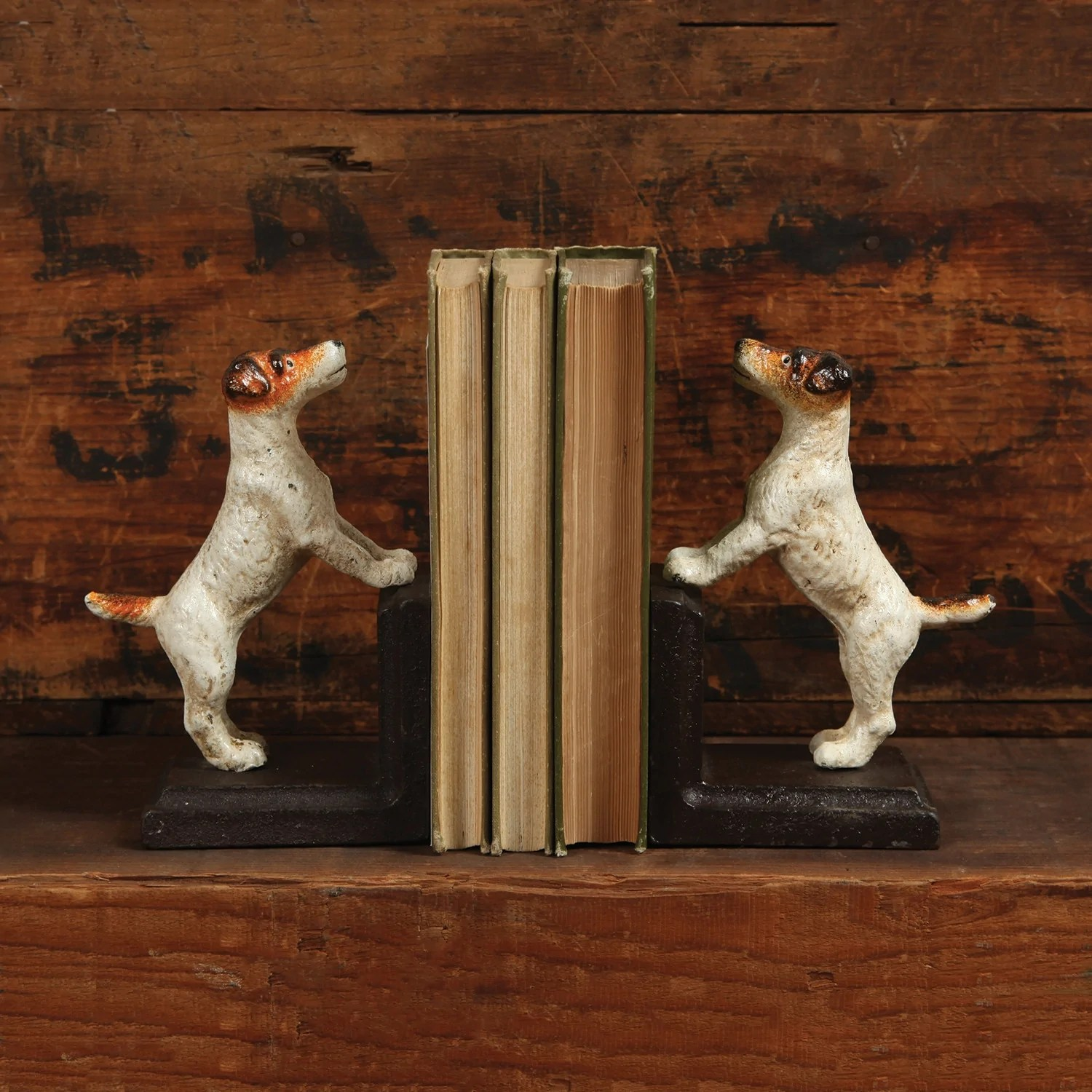 Jack Russell Terrier Bookends Cast Iron