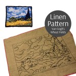 Rug Hooking Pattern Van Gogh S Wheatfield With Cypress Linen Rug Hooking Pattern 15 X20