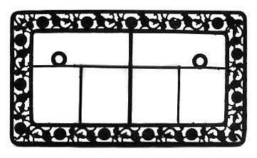 tile german house numbers metal frame germangiftoutlet