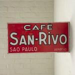 Enameled Cafe Sign French Metro Antiques