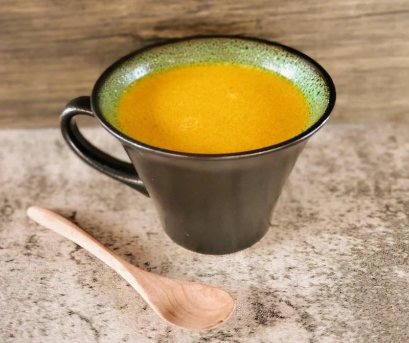 golden milk in a mug