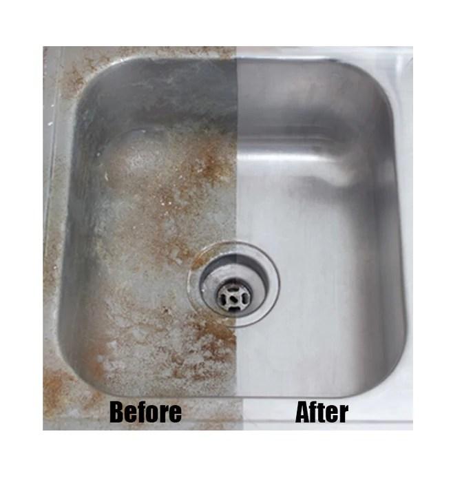 siege clean stainless steel aluminum powder cleaner polish sink shine pan 12oz