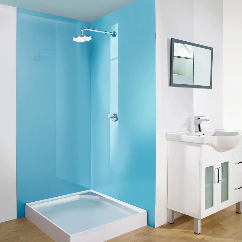 alusplash bathroom backsplash - multi-color lustrolite based wall