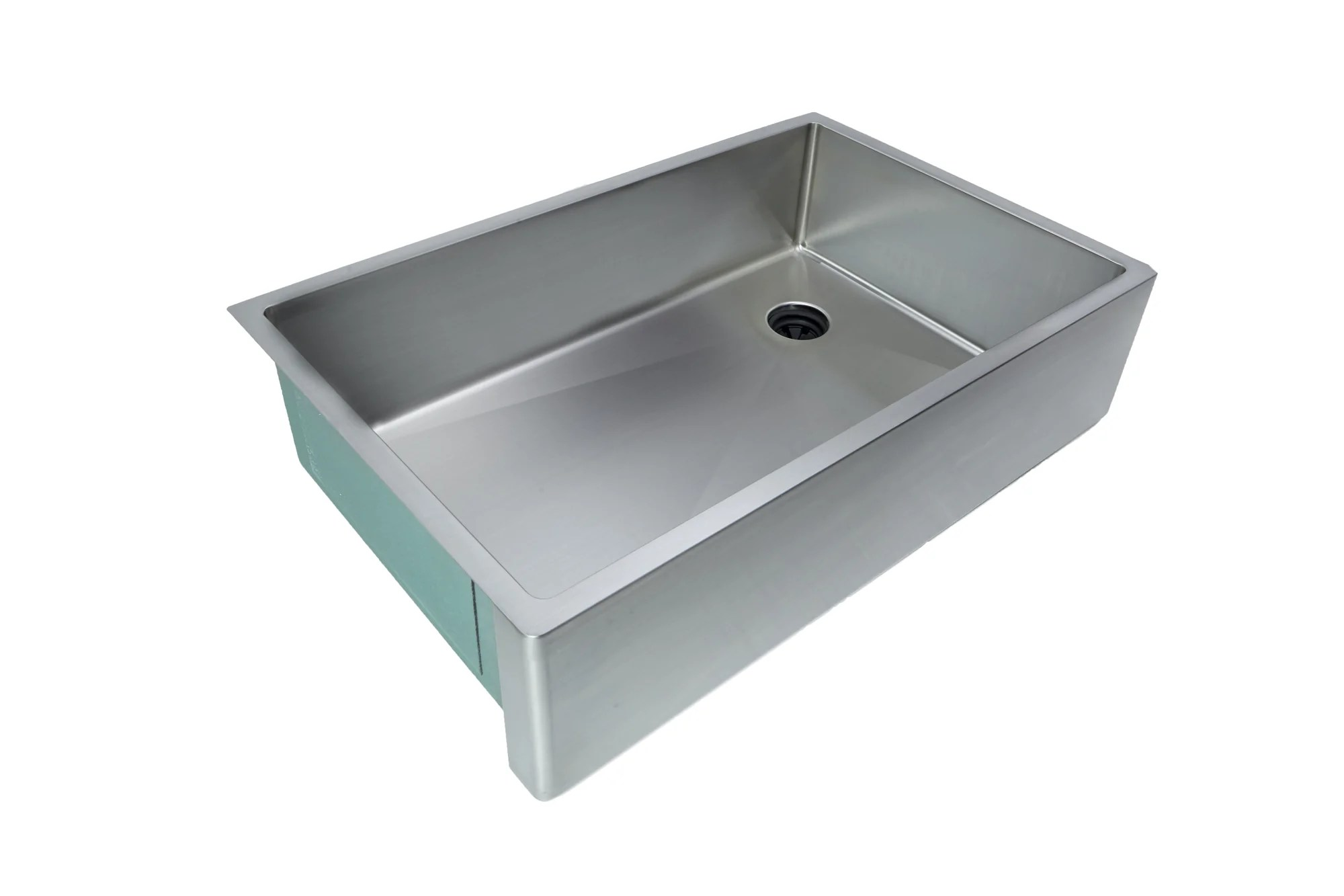 33 apron front sink 8 depth single bowl offset drain right 5as33r 8