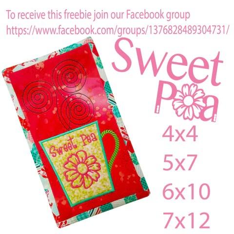 sweet pea stickdateien # 1