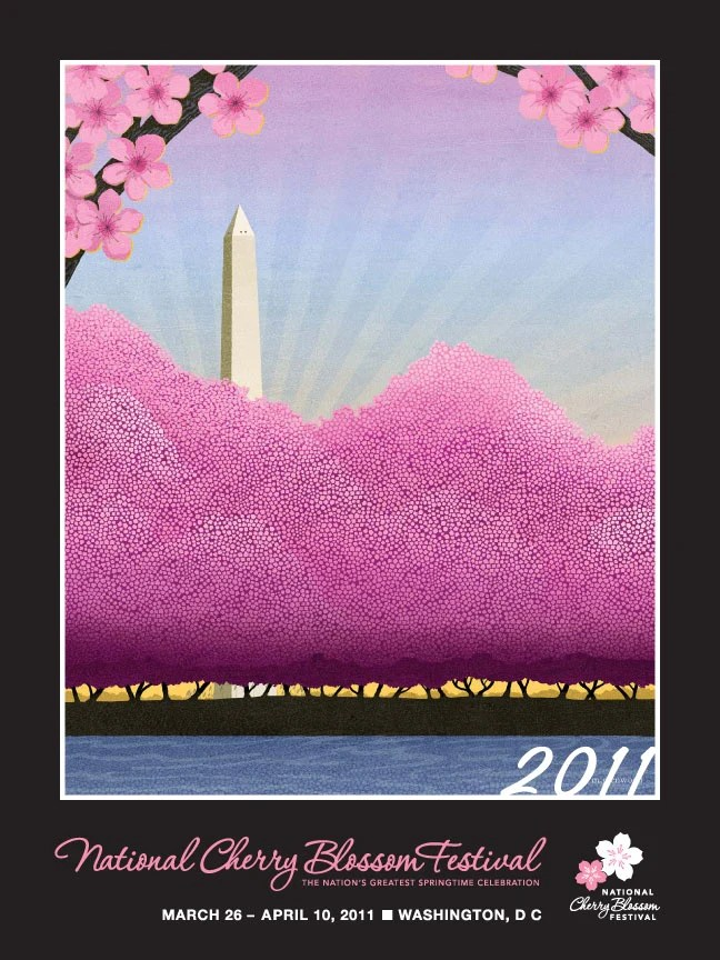 national cherry blossom festival official poster 2011