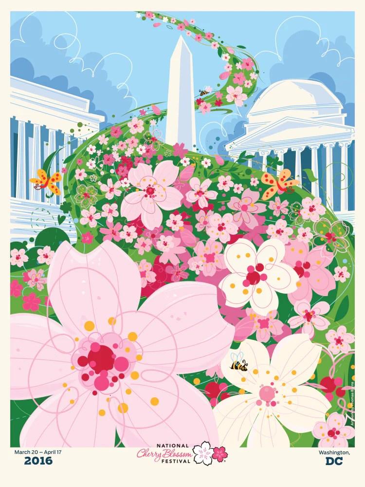 national cherry blossom festival official poster 2016