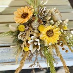Dried Flower Bouquet Star Flowers Bunny Tale Sunflowers Sola Flowe Curiousfloral