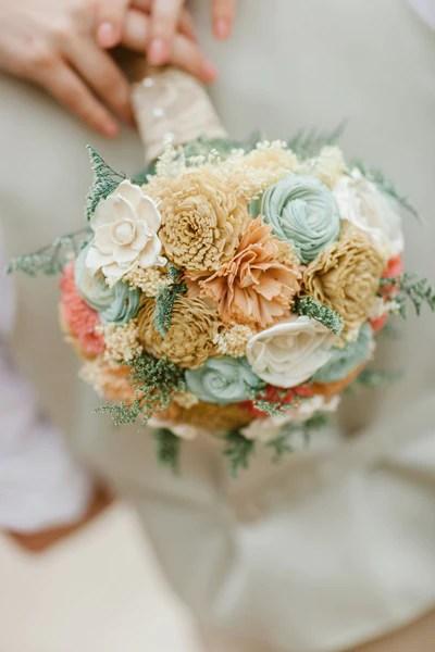 Bridal Bouquet Sola Wood Flowers Faux Flowers Wedding