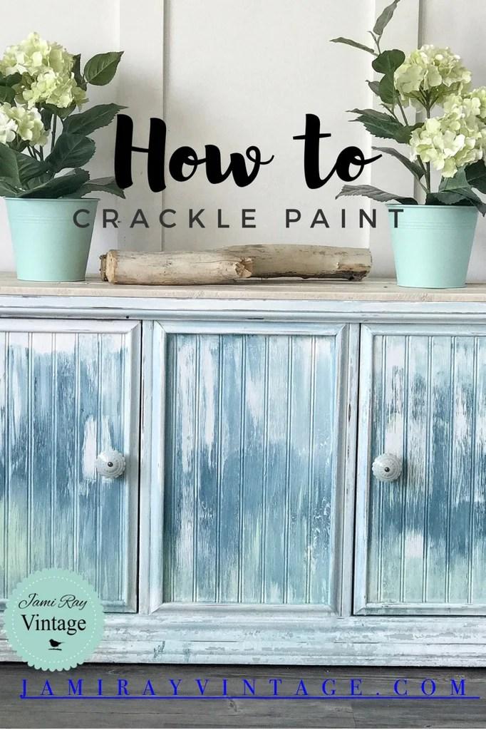 How To Crackle Paint Boho Farmhouse Beach Cabinet
