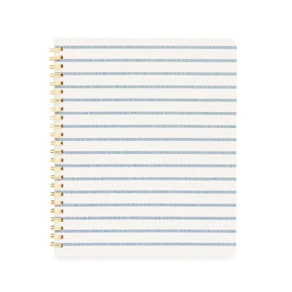 Blue Breton Stripe Notebook Sugar Paper