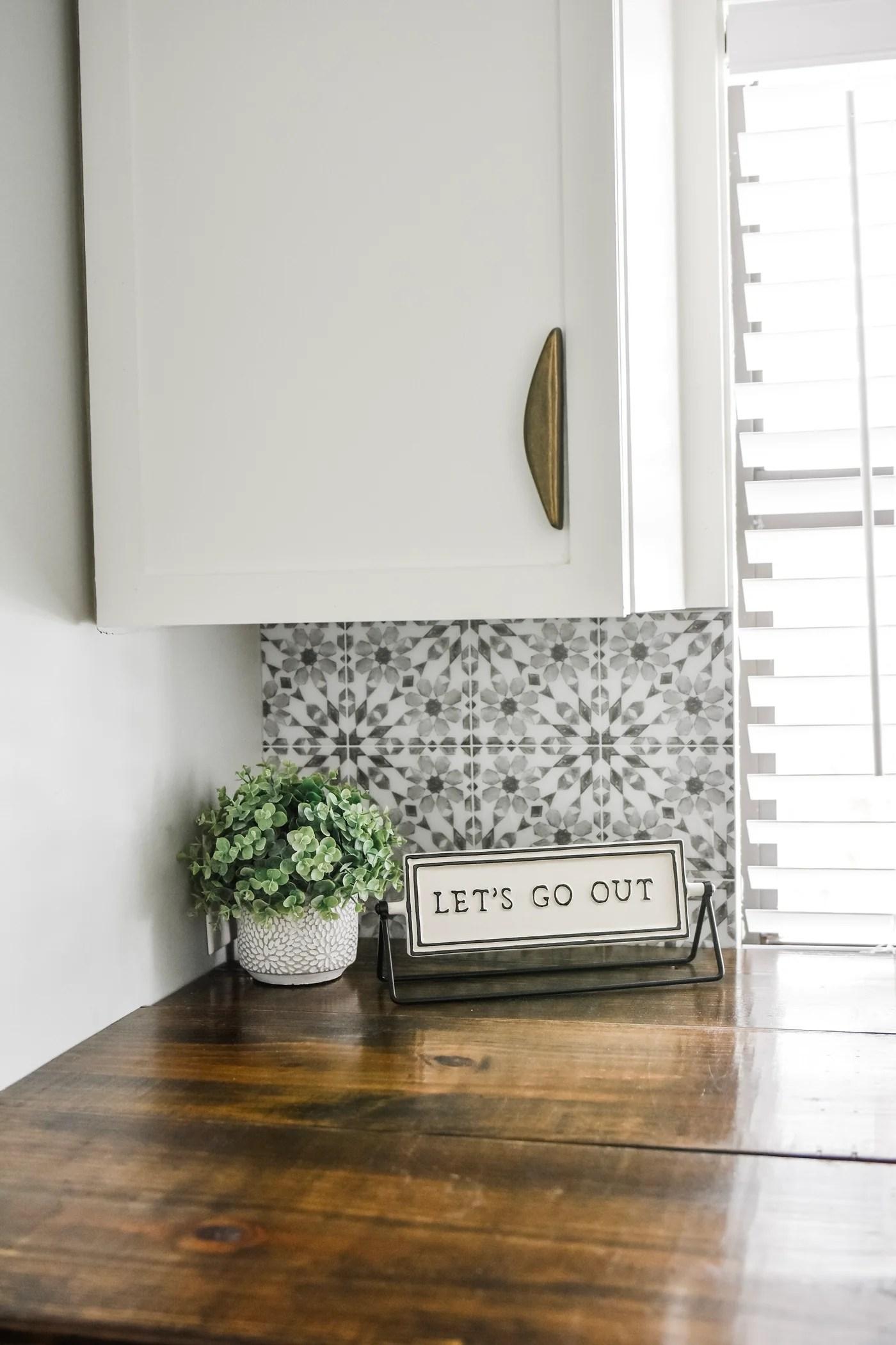 wallpops catalan gray and white peel and stick backsplash tile