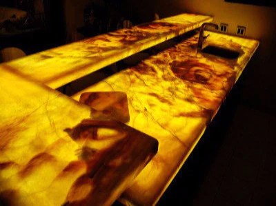 backlit panels for onyx countertops