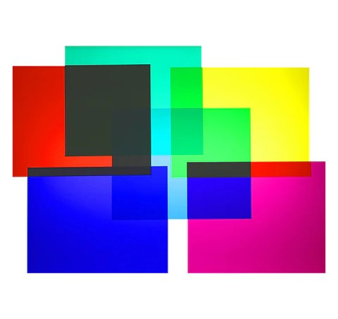 "Color Filters Set   Six 8"" X 10"" Sheets   Rainbow Symphony"