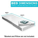 Samay 6 Inch Tri Folding Foam Mattress Includes Waterproof Mattres Samay Home