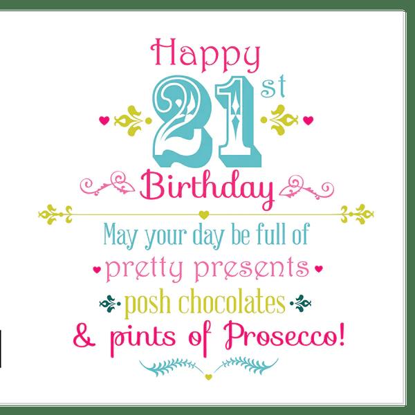 Happy 21st Birthday Juicy Lucy Designs