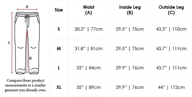 Size Chart Tapered Loose-Fit Organic Cotton Sweatpants