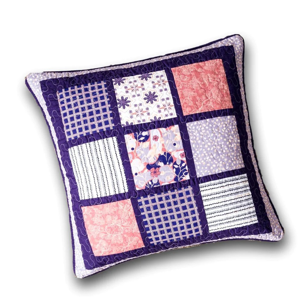 dada bedding cherry blossom floral patchwork purple euro pillow sham c dada bedding collection