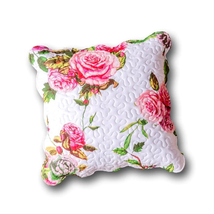 dada bedding set of 2 romantic roses spring floral pink throw pillow covers 18 jhw879