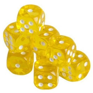 Translucent 16mm Game Dice with Rounded Corners  Set of 200 each         Game Room Translucent 16mm Game Dice with Rounded Corners  Set of 200  each   Grizzly