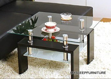 max jnd02 black glass accent side table with shelf mysleep furniture