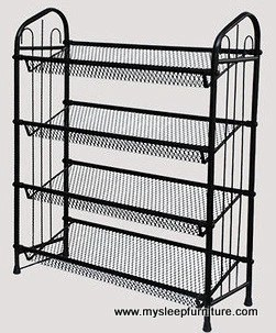 gc black metal shoe rack mysleep furniture